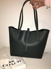 BNWT Coach Green Metallic 'cypress' Market Tote Leather Bag & Strap