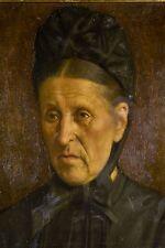 Jules RONSIN Portrait de Femme âgée Peinture à l'huile sur toile XIX°- XX°