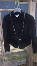 Miller Stockman jacket top, size large, black with brass looking buttons, Large