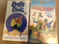 Two Warner Brother VHS Films - Daffy Duck and the Magic Sword Quest for Camelot