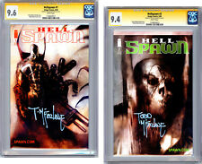 HELLSPAWN #1-2 CGC-SS 9.6-9.4 SIGNED BY TODD MCFARLANE BENDIS COVER & ART 2000