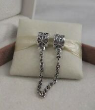 New w/Box & Tags Pandora Daisy Safety Chain Charm # 790385-05 Protect Bracelet