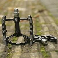 Alloy Mountain Bike Bicycle BMX MTB Flat Platform Anti-Slip Pedals  Smoothly
