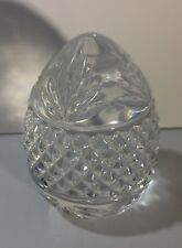 """Glass Egg Paperweight 3 """"x 2"""" Wt. 1 lb Clear Glass"""