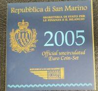REPUBBLICA SAN MARINO SERIE UFFICIALE 2005 CON ARGENTO PERFETTA ZECCA RSM