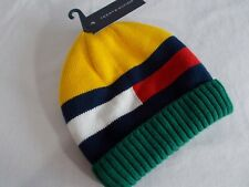 NWT Tommy Hilfiger LUCAS INFANT BEANIE Fleece Lined HERITAGE MULTI   2-4 Toddler