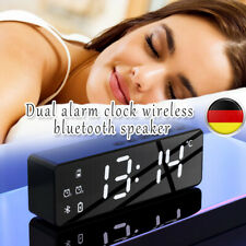 Neu Radiowecker mit Projektion LED Digital dimmbar Tischuhr Alarm Uhr Kalender.