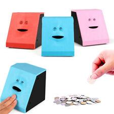 Creative Children Sensor Coin Box Cute Face Bank Money Safe Box Piggy Banks Uk