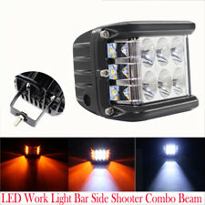 4 Inch LED Work Light Bar Side Shooter Combo Beam White+Yellow Driving Offroad