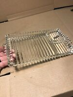 Antique Glass Dinner Serving Tray Platter