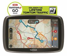 TomTom GO 5000 M Europe XXL HD Traffic + Free Lifetime 3D Maps IQ Tap&Go GPS WOW