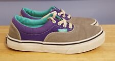 Vans Classic Off the Wall Gray and Purple Padded Canvas Sneakers Youth Size 3