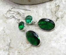 925 Sterling Silver Overlay EARRINGS JEWELRY | DIOPSIDE QUARTZ 1 3/ inch B20-026