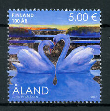 Aland 2017 MNH Finland 100 Years Whooper Swan 1v Set Swans Birds Stamps