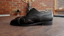 PEAL & CO FOR BROOKS BROTHERS BLACK LEATHER CAP TOE OXFORD SHOES SZ 9 D 06621