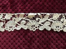 "Antique Bruges DUCHESSE LACE EDGING-  30"" by 2 1/2"""