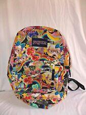 Jansport Backpack Kitty Dog Cat Tiger Bookbag Flowers Rainbows Stars Bows Hearts