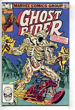 Ghost Rider 77 Marvel 1982 NM- Mephisto Origin Zarathos Bob Budiansky