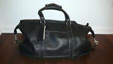 Barrington Captain's Black Pebbled Leather Duffle Bag - Used Once !!!