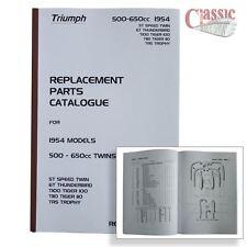 Triumph 1954 5T Speed Twin, 6T Thunderbird,TR5 Trophy, T100 Parts Book