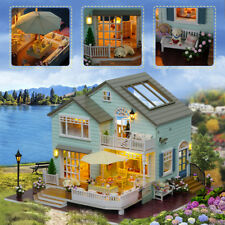 Kits DIY Wood Miniature Dollhouse Wooden Toys With Furniture Doll House Gift FN