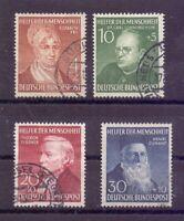 Bund 1952 - Wohlfahrt - MiNr. 156/159 rund gestempelt - Michel 100,00 € (555)