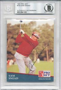 -Rare- 1991 -Sam Snead- Pro Set BAS Signed/Autograph/Auto PGA Golf Card