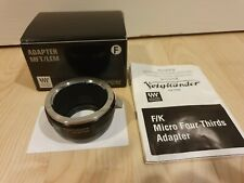 Voigtlander (Nikon F) to Micro Four Thirds lens adaptor *Excellent condition*