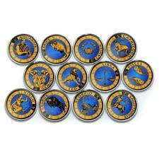 Azad Jammu and Kashmir 1 rupee set of 12 coins Zodiac 2017