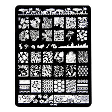 DIY Multi Pattern Nail Art Image Stamp Stamping Plates Manicure Template N4