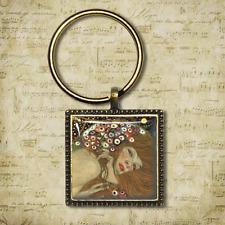 Gustav KLIMT Portachiavi Mare Serpenti Gustav Klimt Fatto a Mano Portachiavi Regalo Unico