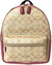 Coach Leather Women Signature Charle Backpack Shoulder Bag F32200