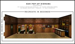 "Extreme-Sets Bar Pop-Up Diorama 1/12 Scale for 6""-7"" Action Figures"