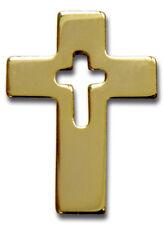 """Anstecker """"Kreuz"""" - goldfarben - auf Geschenkkarte (*NEU*)"""