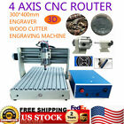 4 Axis 400W CNC Router Engraver Engraving Cutter Mill & Drilling Machine 3040 US