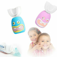 Kids Ultrasoni Electric Toothbrush Cartoon Auto Brush Teeth Cleaner USB Charging