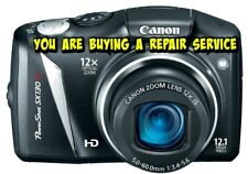 CANON SX130 IS REPAIR SERVICE for your Digital Camera with a 60 DAY WARRANTY