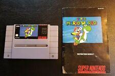 Super Mario World Super Nintendo SNES & Manual Instructions Tested Authentic