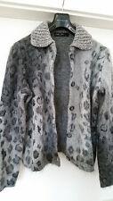 MARC CAIN Strickjacke Blazer Mohair Wolle N5 40 42 L XL wNEU Tierprint