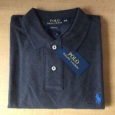 Mens Ralph Lauren Long Sleeve Custom Fit Polo T Shirt Grey Size-Medium RRP£78