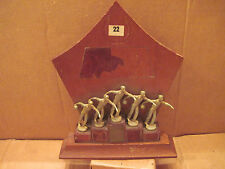 Vintage Bowling Trophy 5 Bowlers over 30 years old