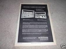 Kenwood KT-5000,KA5002,KT2001,KA2002 Amp Tun ad fr 1972