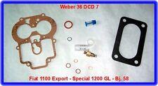 Weber 36 DCD 7, Vergaser Rep.Kit, Fiat 1100 Export - Special 1200 GL - Bj. 58