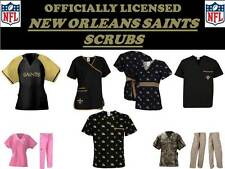 New Orleans Saints Scrub Top-New Orleans Saints Scrub Pants-Saints Nfl Scrubs