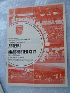 1968-69 ARSENAL v MANCHESTER CITY 27th Aug Leg Division One