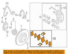 HYUNDAI OEM 15-16 Genesis Brake-Front Pads 58101B1A20