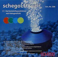 Schego Lux Air Gartenteichausströmer mit Halogenlicht für Gartenteichdurchlüfter