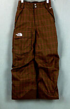 218 The North Face Girls EUC Insulated Ski SnowBoard Pants brown&pink plaid Sz M
