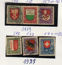 SWITZERLAND STAMPS PRO JUVENTUTE 1919, #149-174 , CV 125 EURO