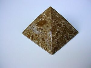 Beautiful Brown/Tan Agate Pyramid Crystal Healing Stone Feng Shui from Brazil